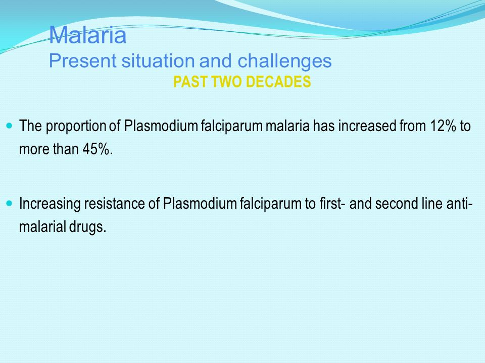 Malaria Present situation and challenges