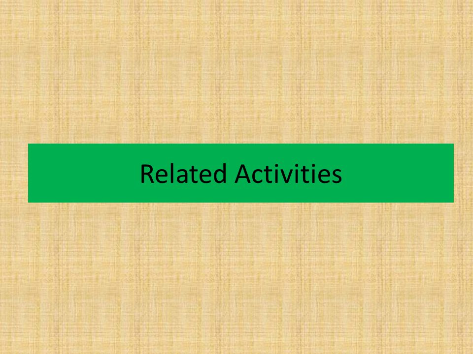 Related Activities