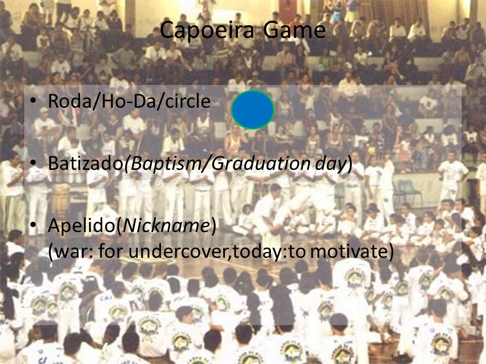 Capoeira Game Roda/Ho-Da/circle Batizado(Baptism/Graduation day)