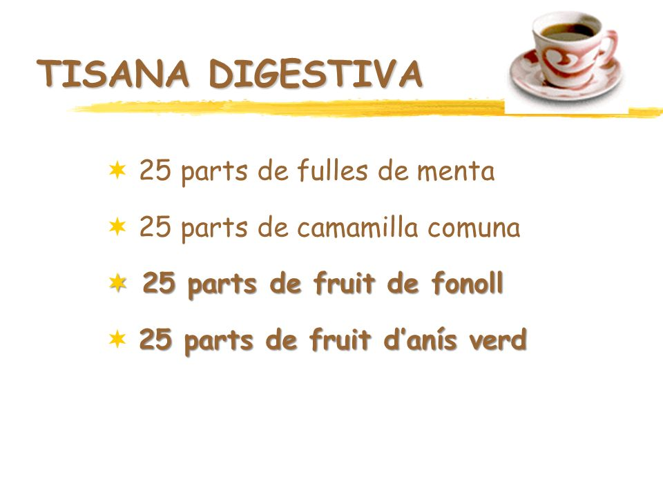 TISANA DIGESTIVA 25 parts de fulles de menta