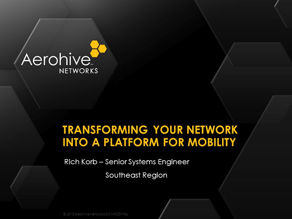 Transforming your network into a platform for mobility