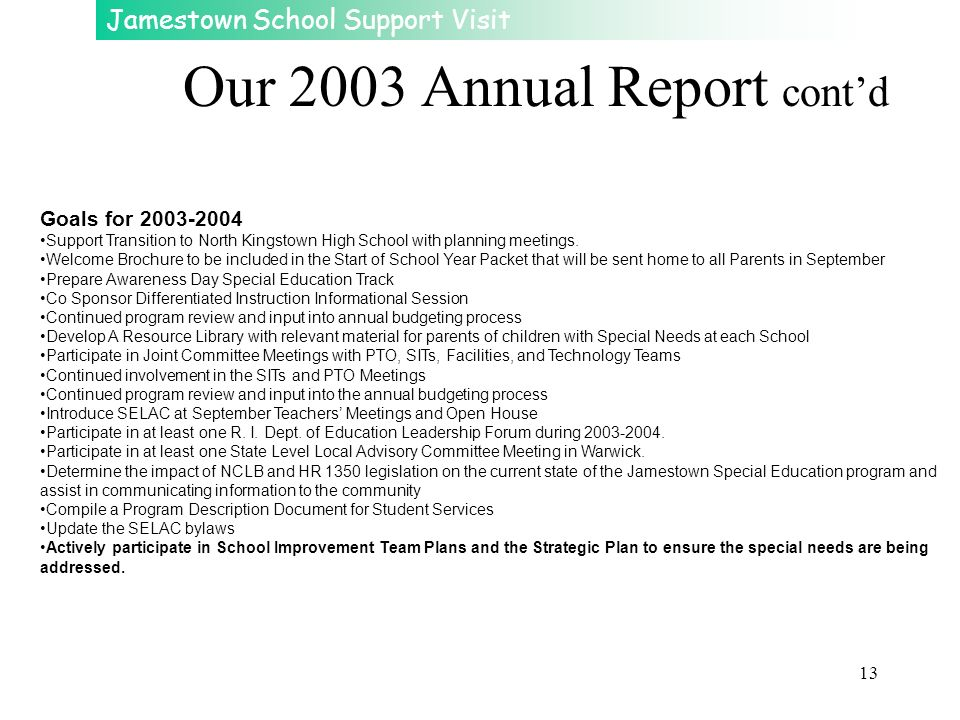 Our 2003 Annual Report cont'd