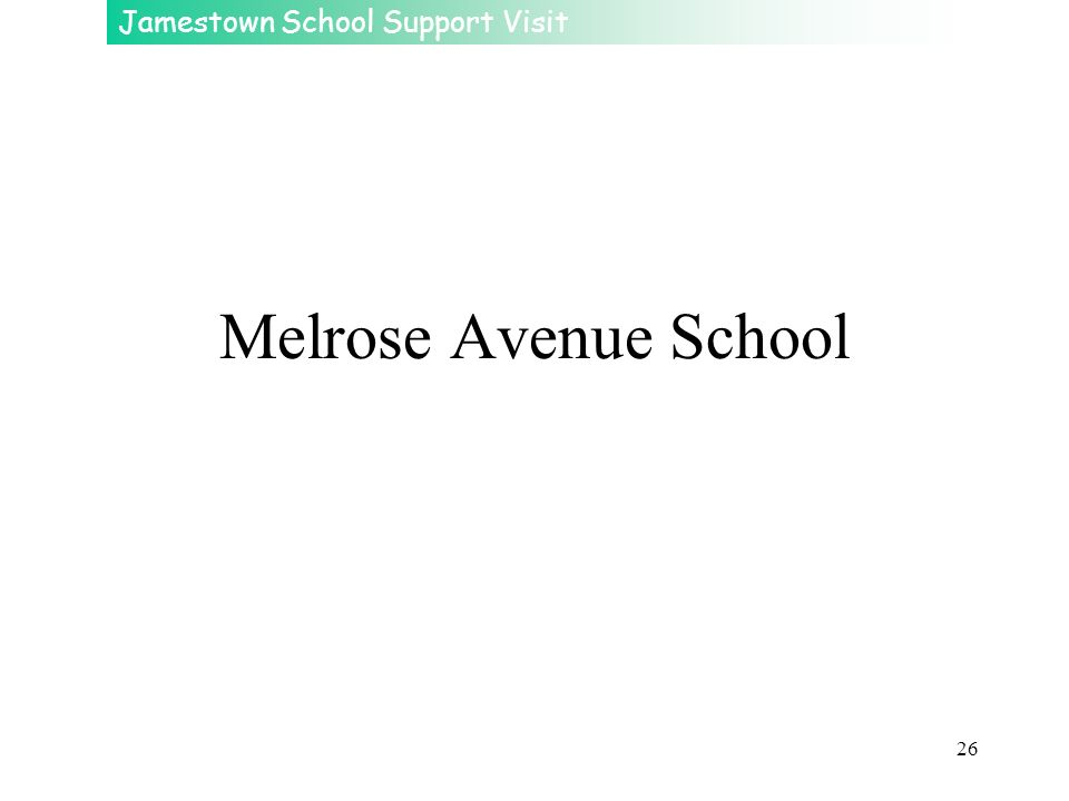Melrose Avenue School