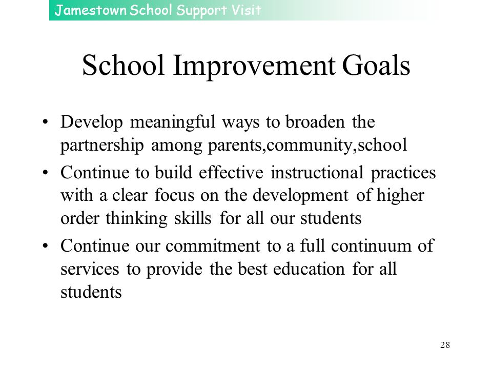School Improvement Goals