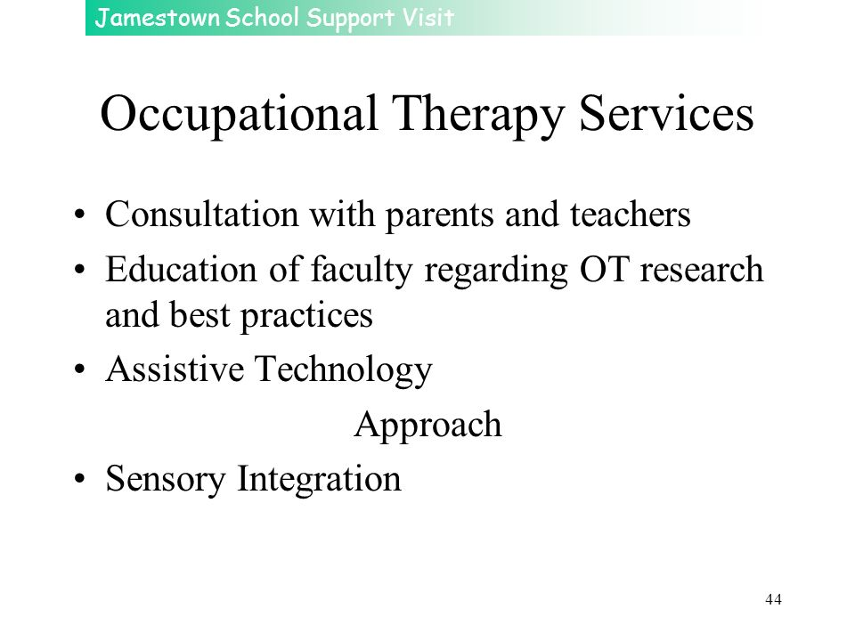 Occupational Therapy Services