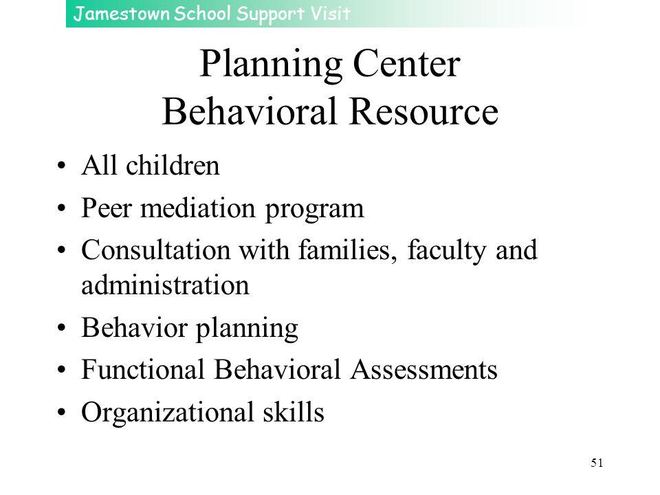 Planning Center Behavioral Resource