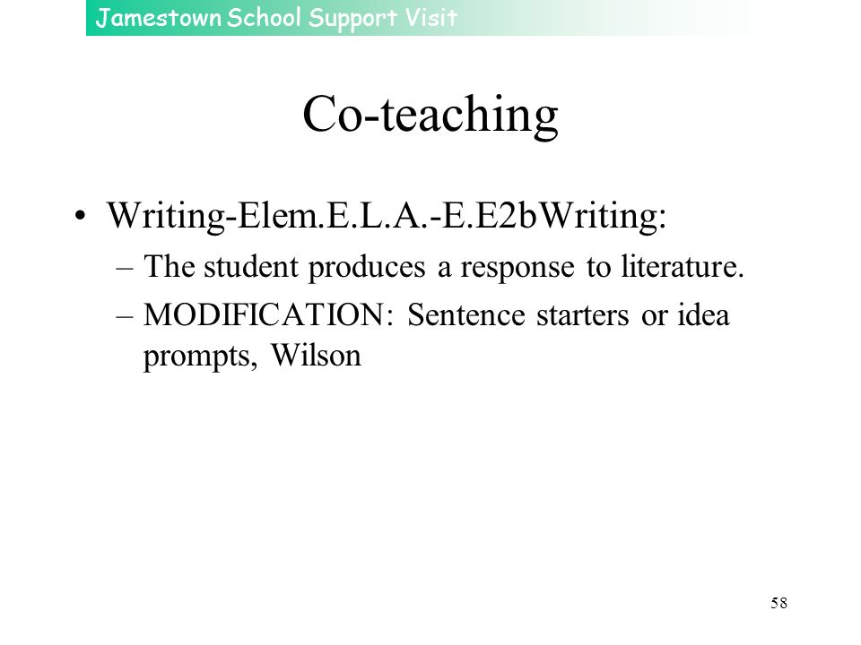 Co-teaching Writing-Elem.E.L.A.-E.E2bWriting: