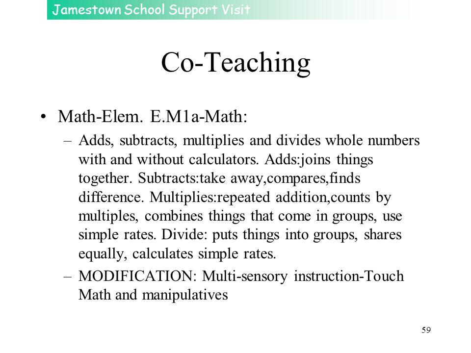 Co-Teaching Math-Elem. E.M1a-Math: