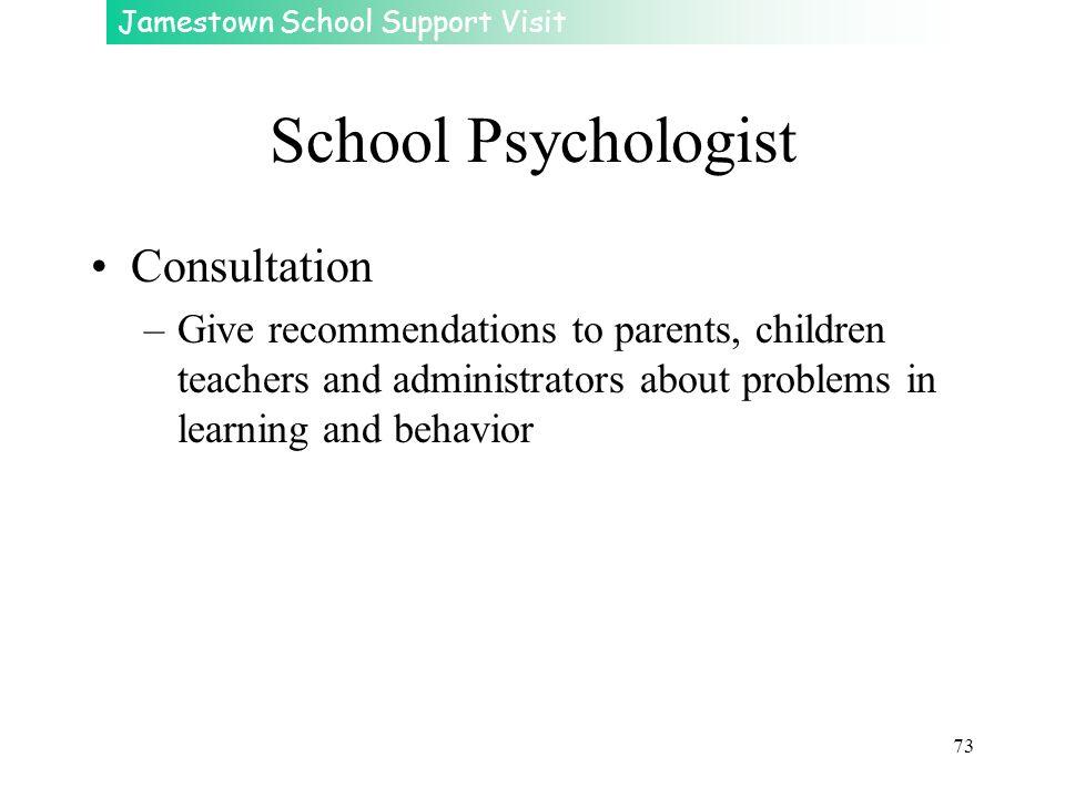School Psychologist Consultation