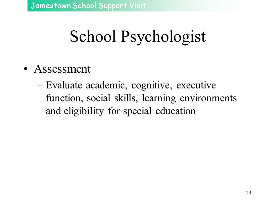 School Psychologist Assessment