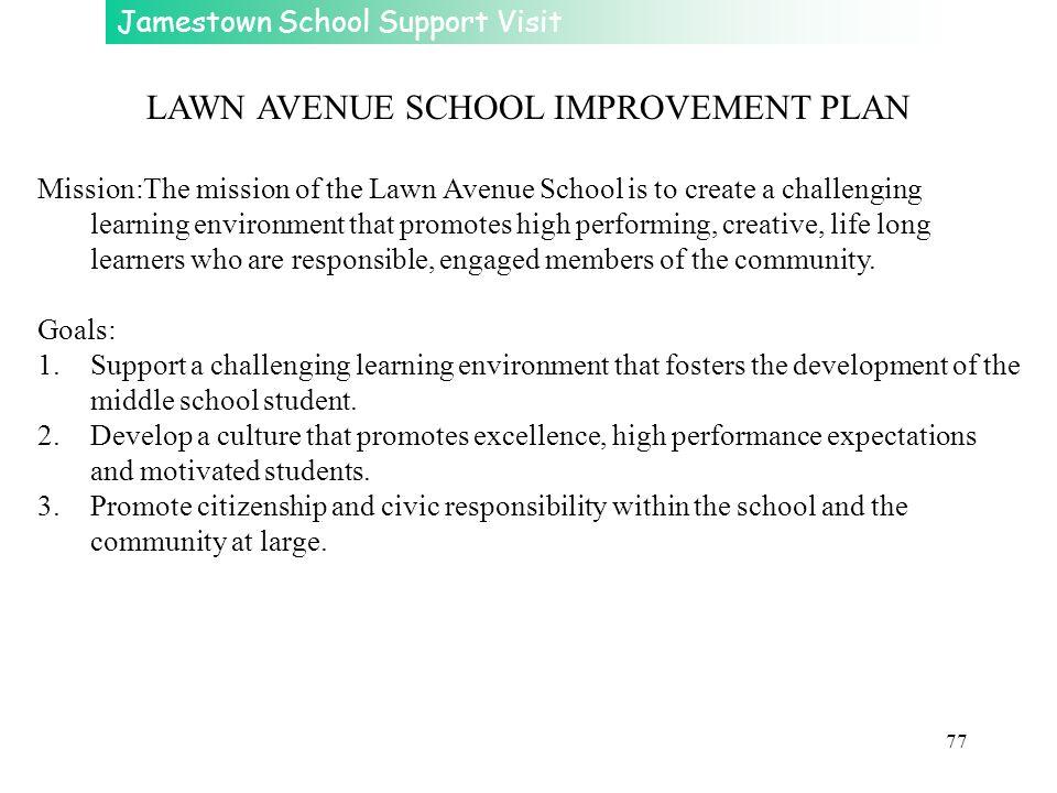 LAWN AVENUE SCHOOL IMPROVEMENT PLAN