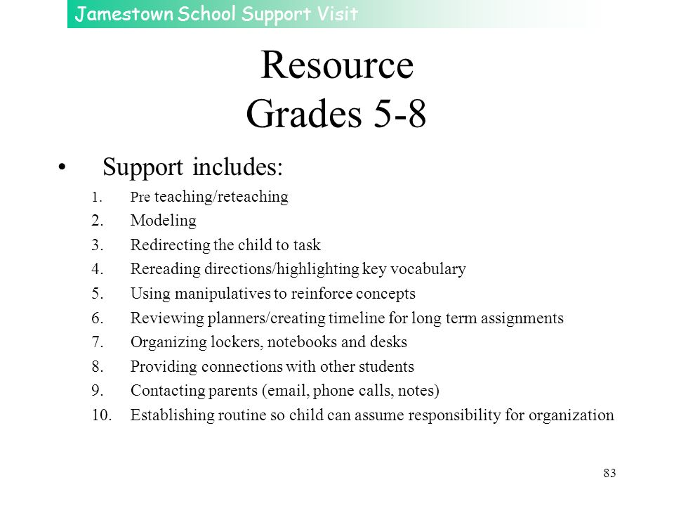 Resource Grades 5-8 Support includes: Modeling