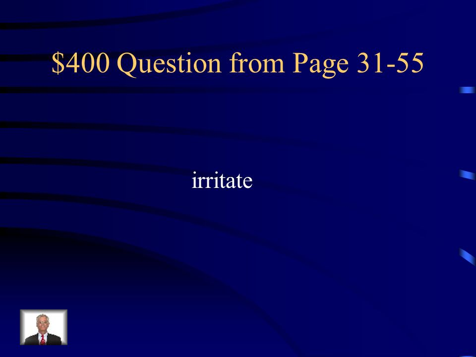 $400 Question from Page irritate