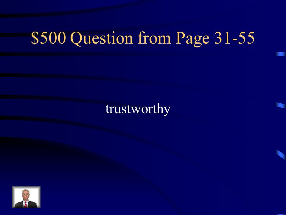 $500 Question from Page trustworthy