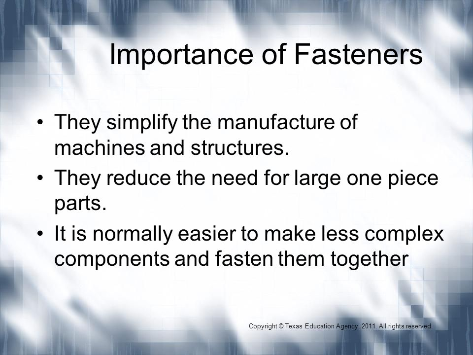 Importance of Fasteners