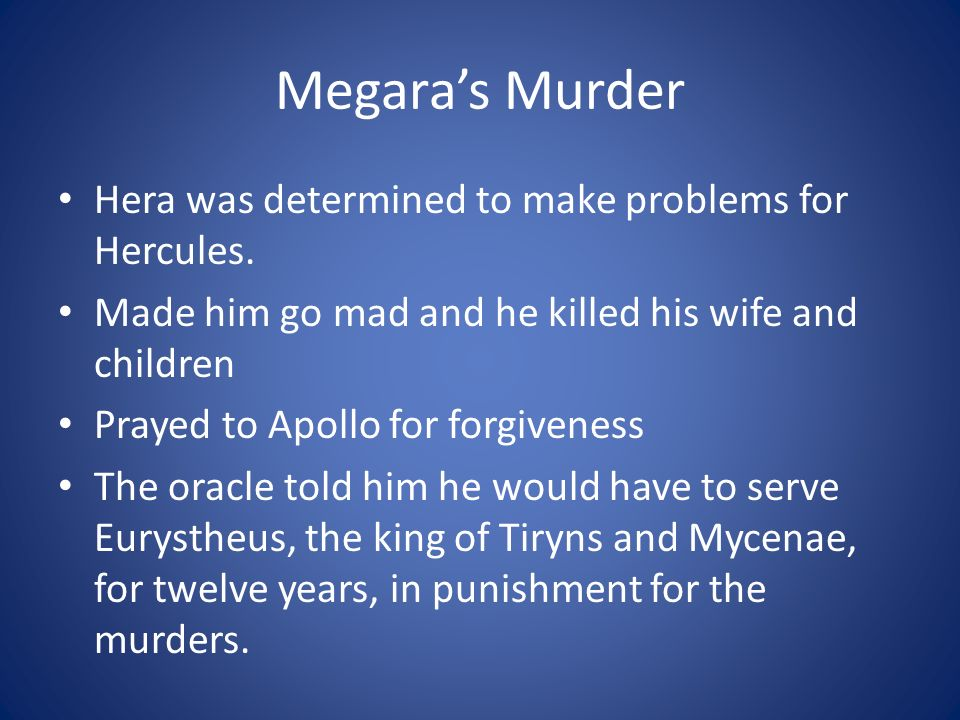 Megara's Murder Hera was determined to make problems for Hercules.