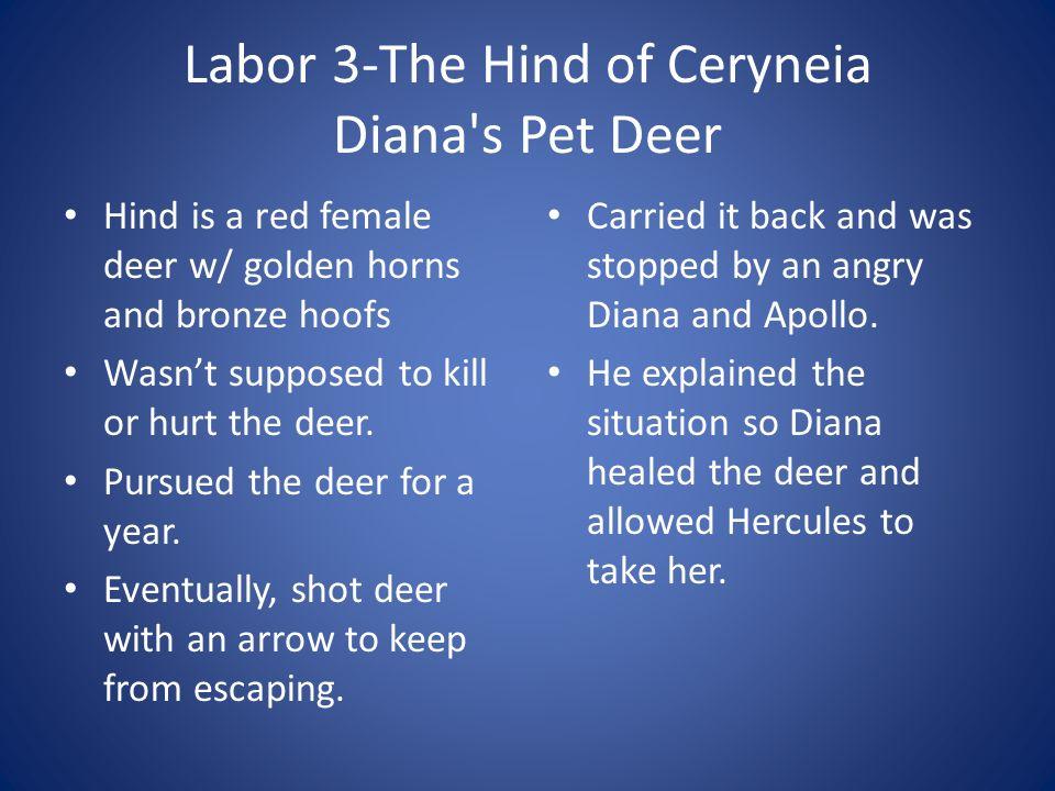 Labor 3-The Hind of Ceryneia Diana s Pet Deer