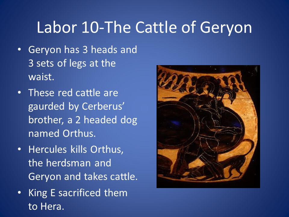 Labor 10-The Cattle of Geryon