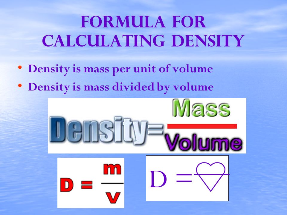 Formula for calculating density