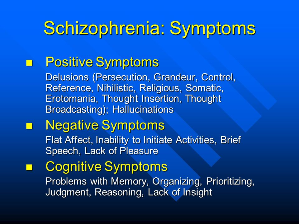 Schizophrenia: Symptoms