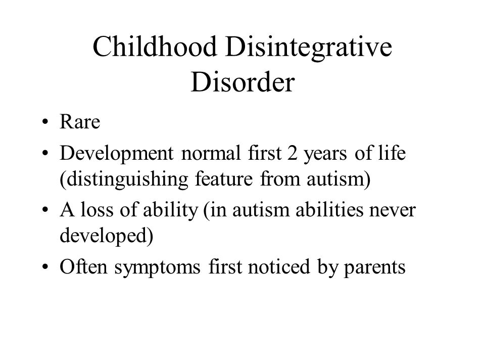Childhood Disintegrative Disorder