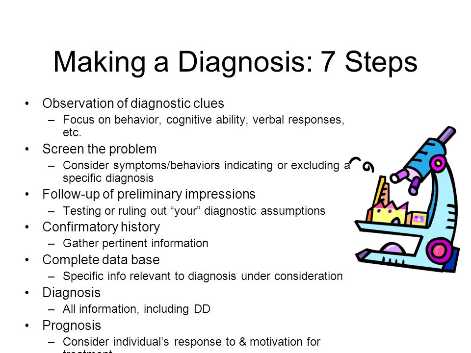Making a Diagnosis: 7 Steps