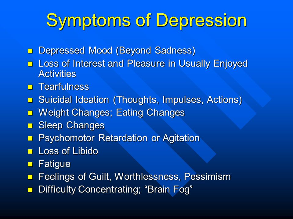 Symptoms of Depression