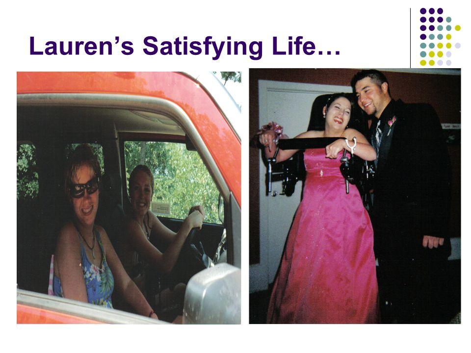 Lauren's Satisfying Life…