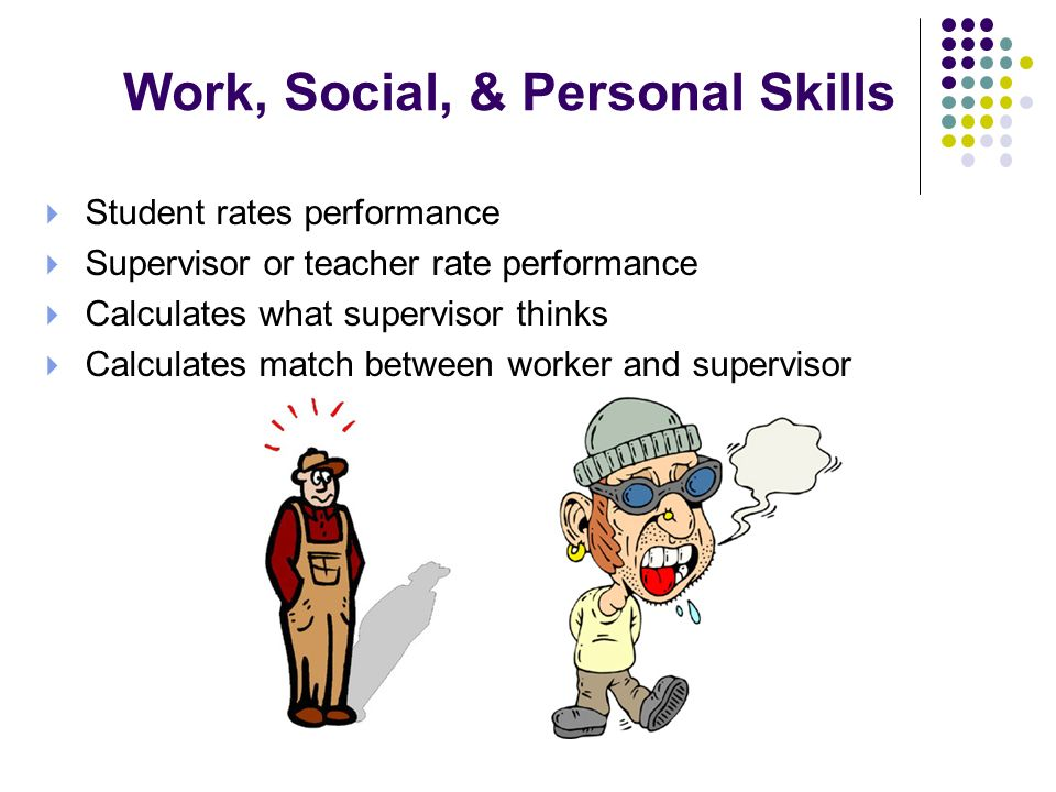 Work, Social, & Personal Skills