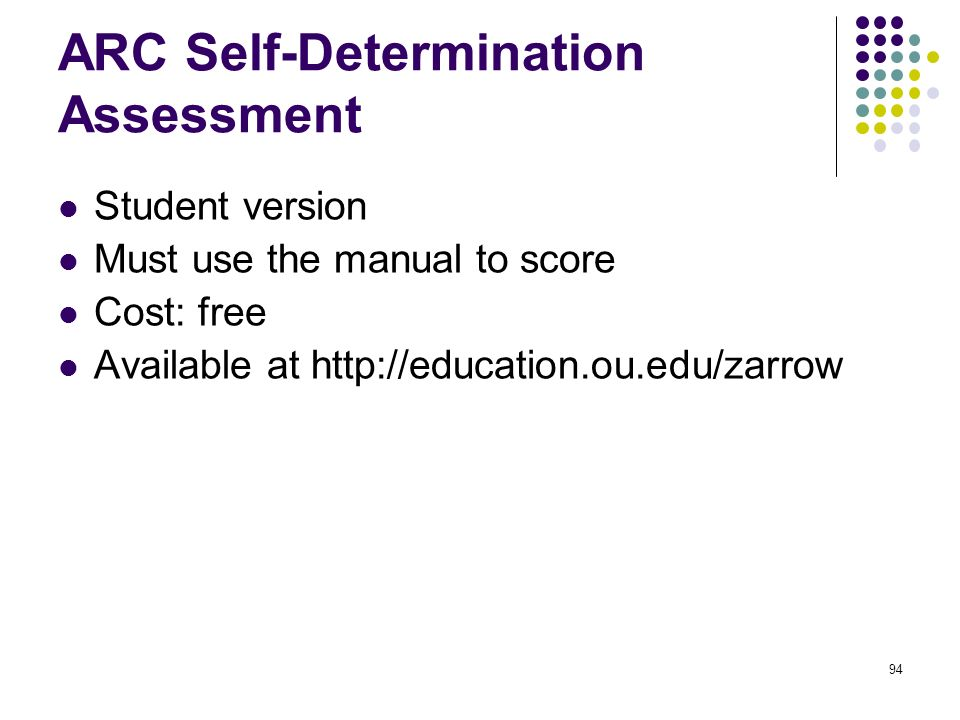 ARC Self-Determination Assessment