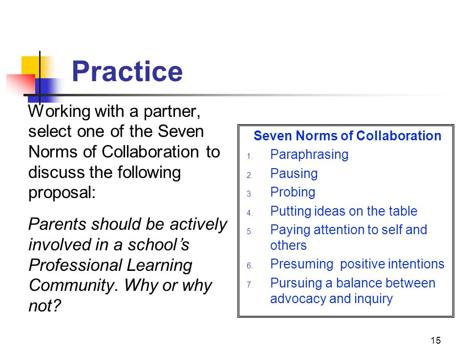 Seven Norms of Collaboration
