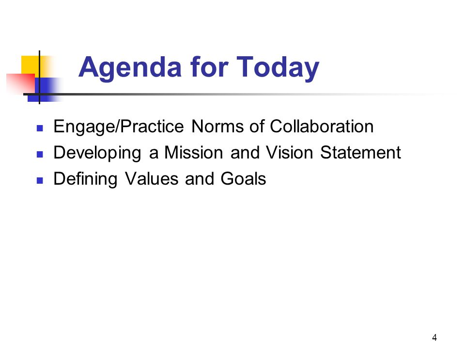 Agenda for Today Engage/Practice Norms of Collaboration