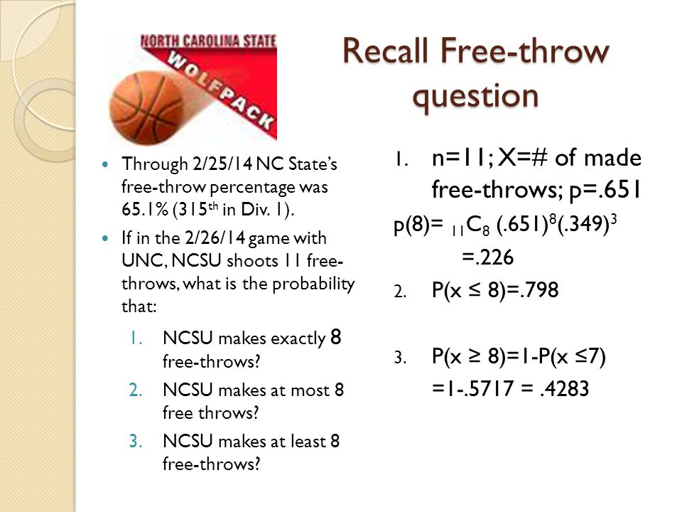 Recall Free-throw question