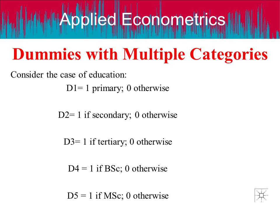 Dummies with Multiple Categories