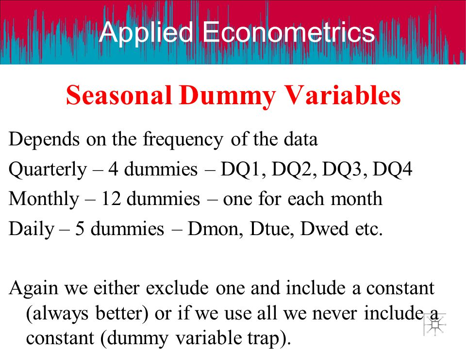 Seasonal Dummy Variables