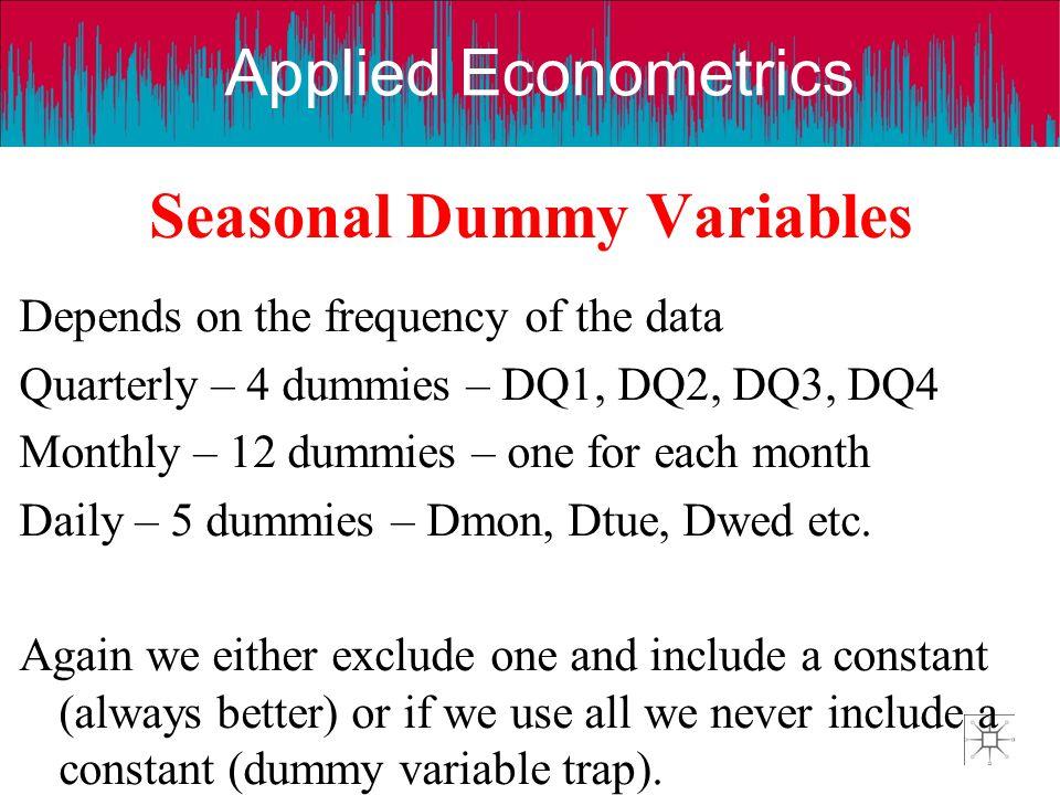 Seasonal Dummy Variables