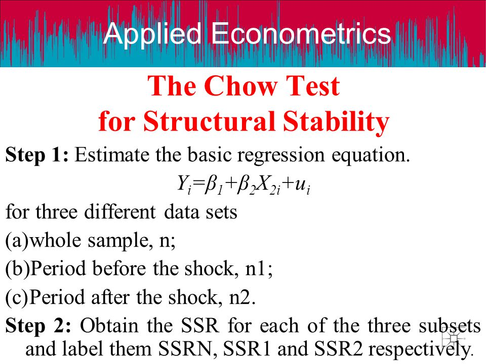 The Chow Test for Structural Stability