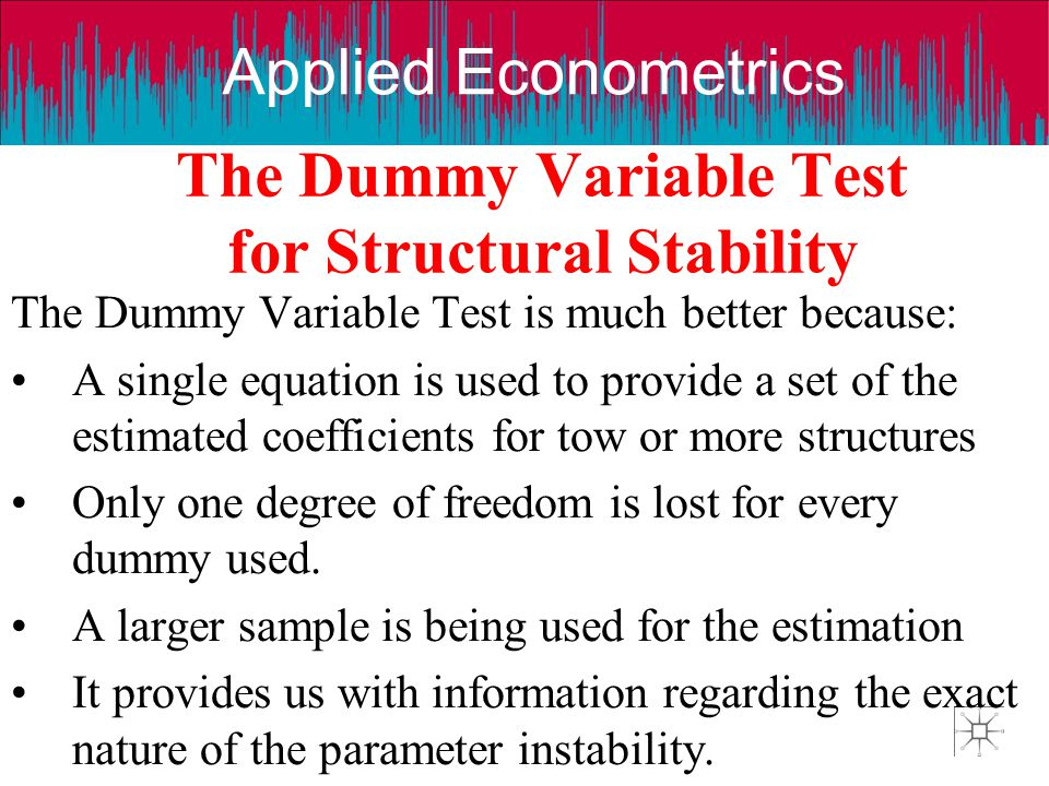 The Dummy Variable Test for Structural Stability