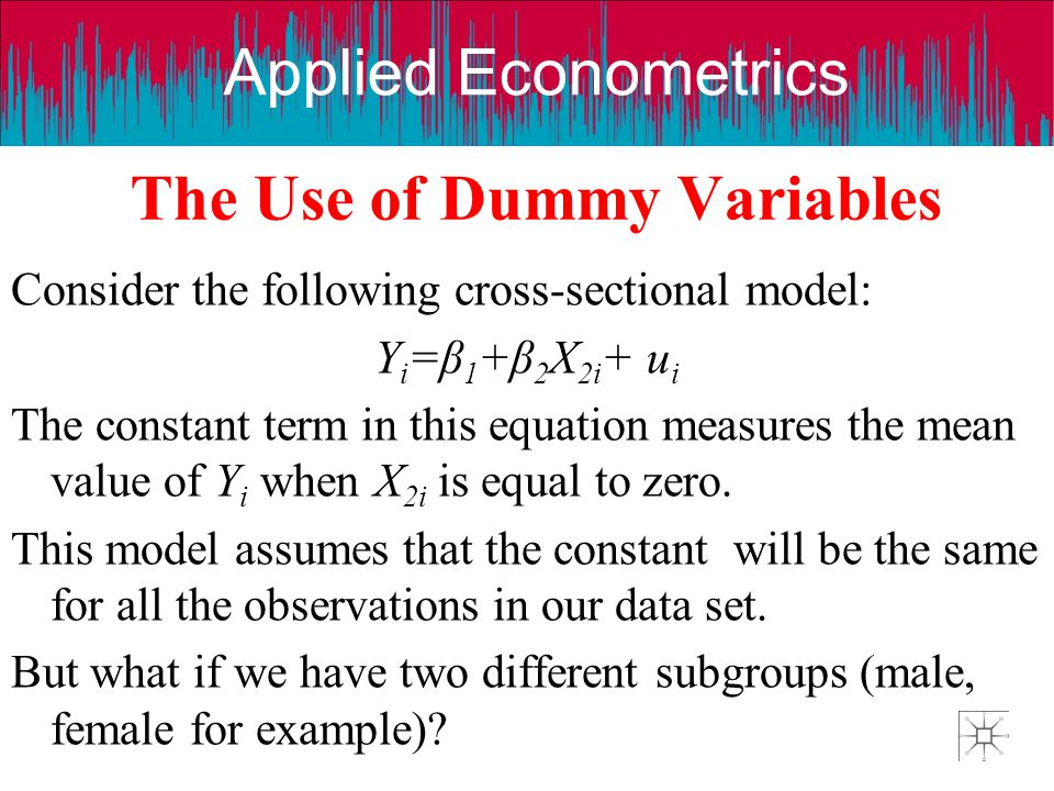 The Use of Dummy Variables