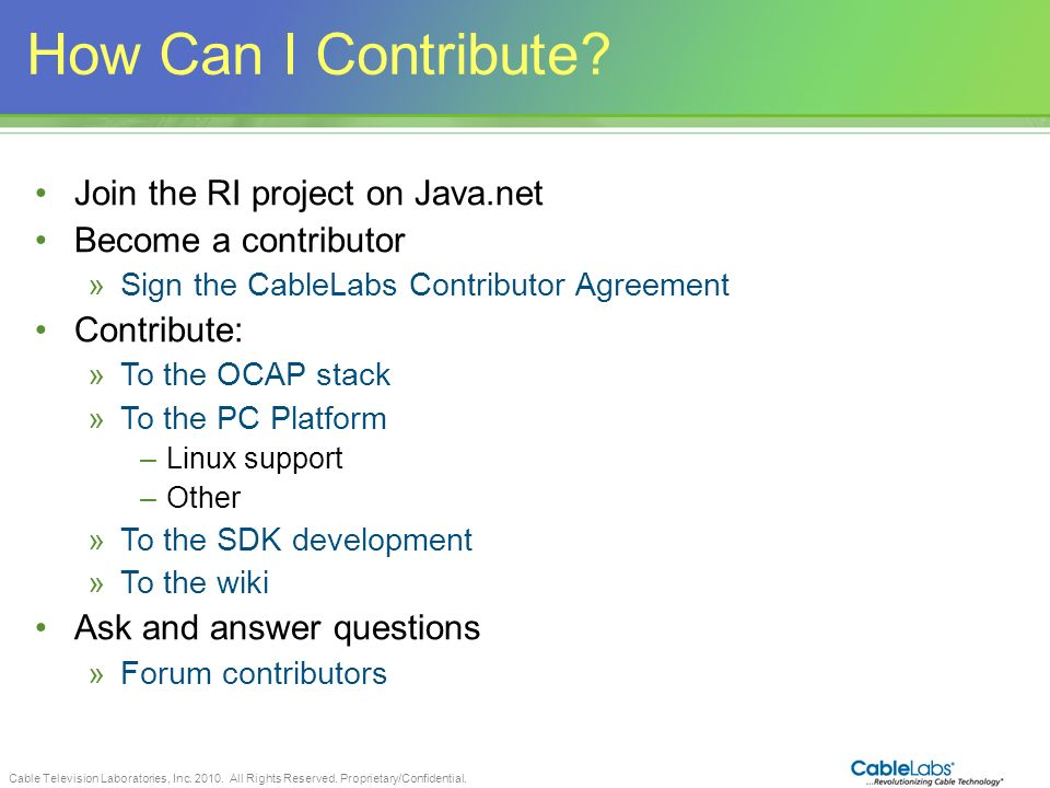 How Can I Contribute Join the RI project on Java.net
