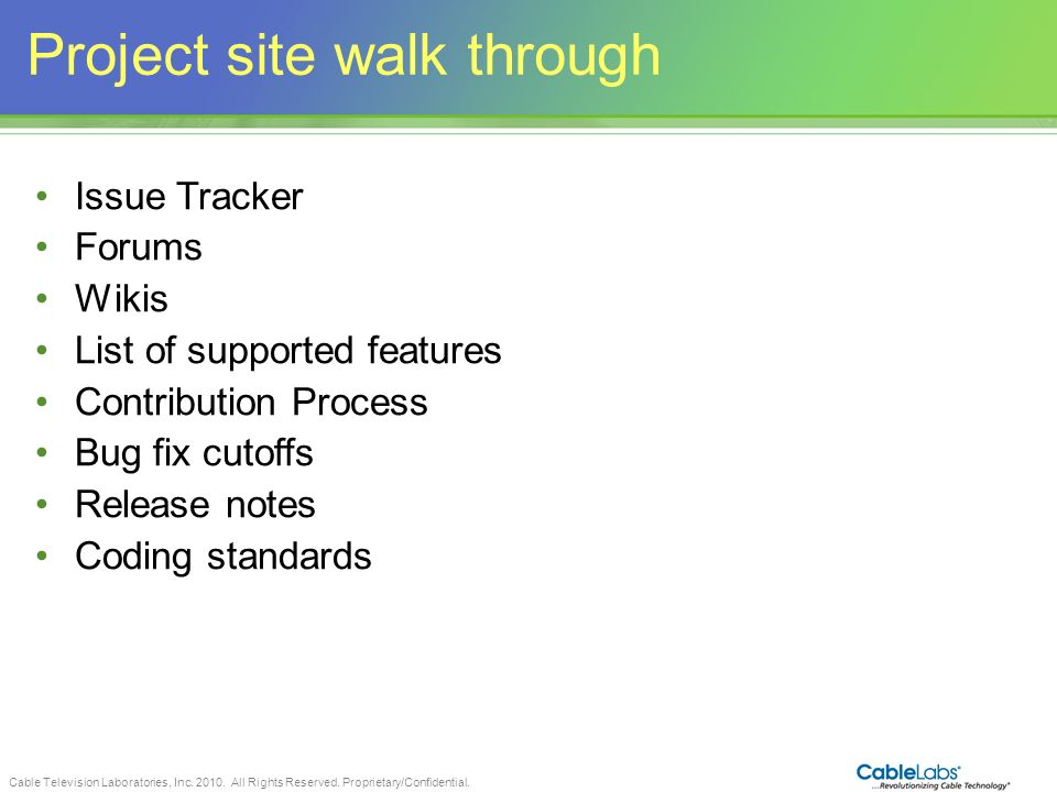 Project site walk through