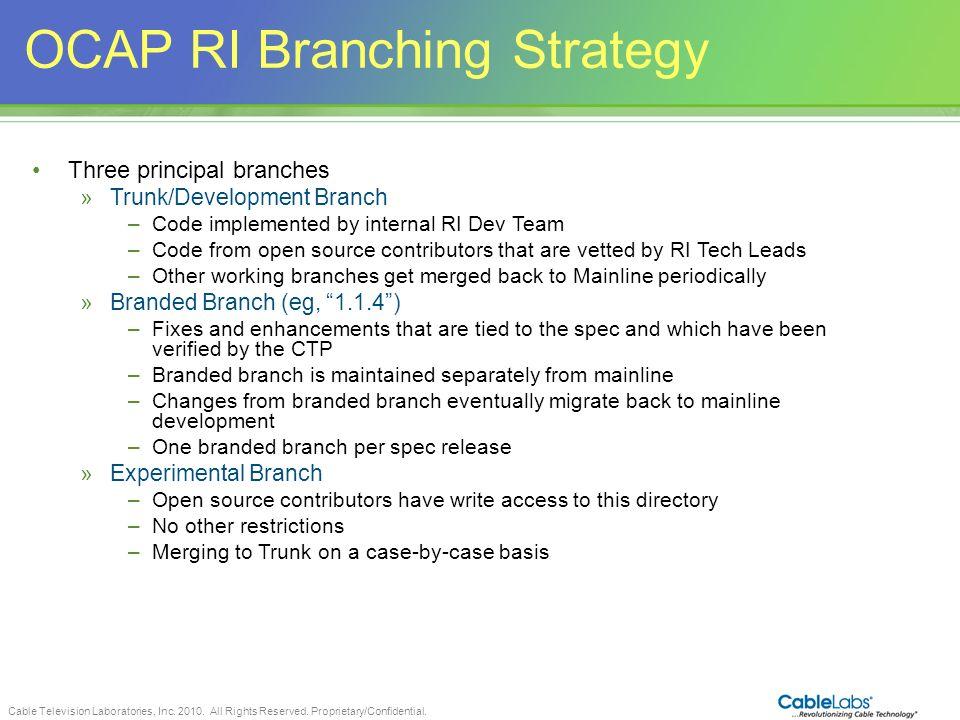 OCAP RI Branching Strategy