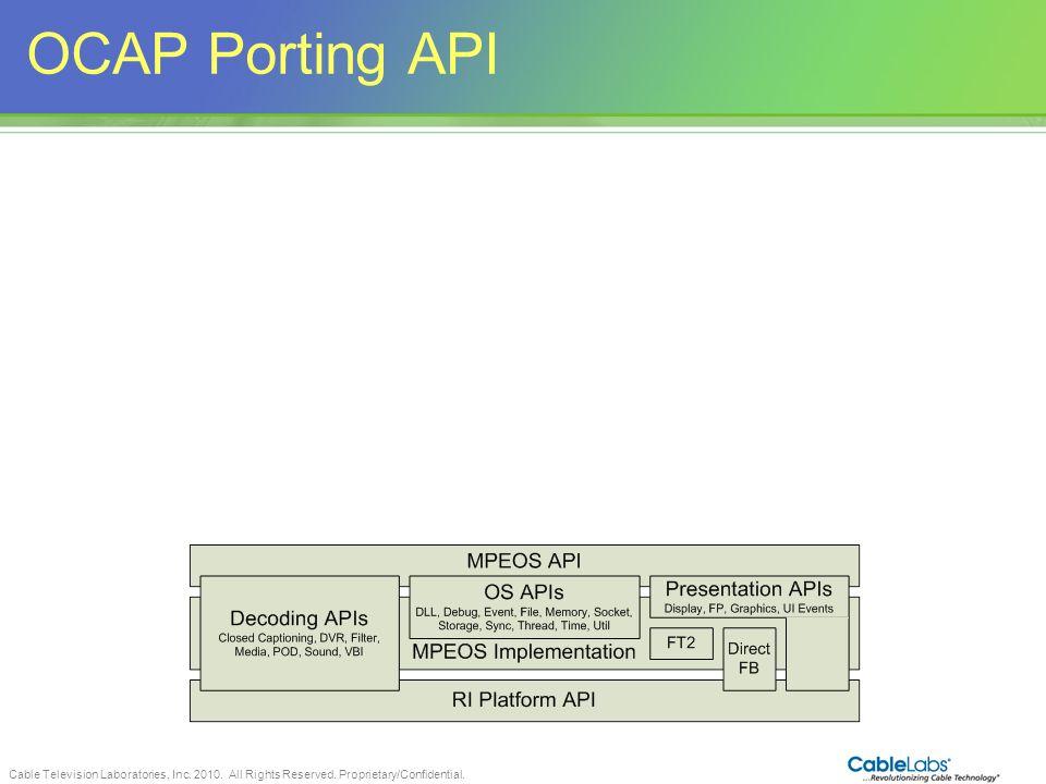 OCAP Porting API