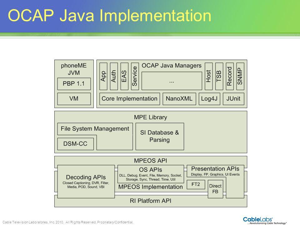 OCAP Java Implementation