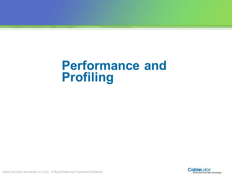 Performance and Profiling