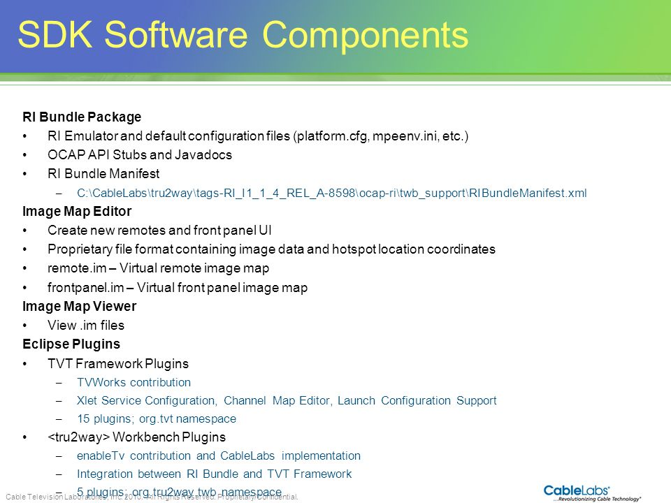 SDK Software Components