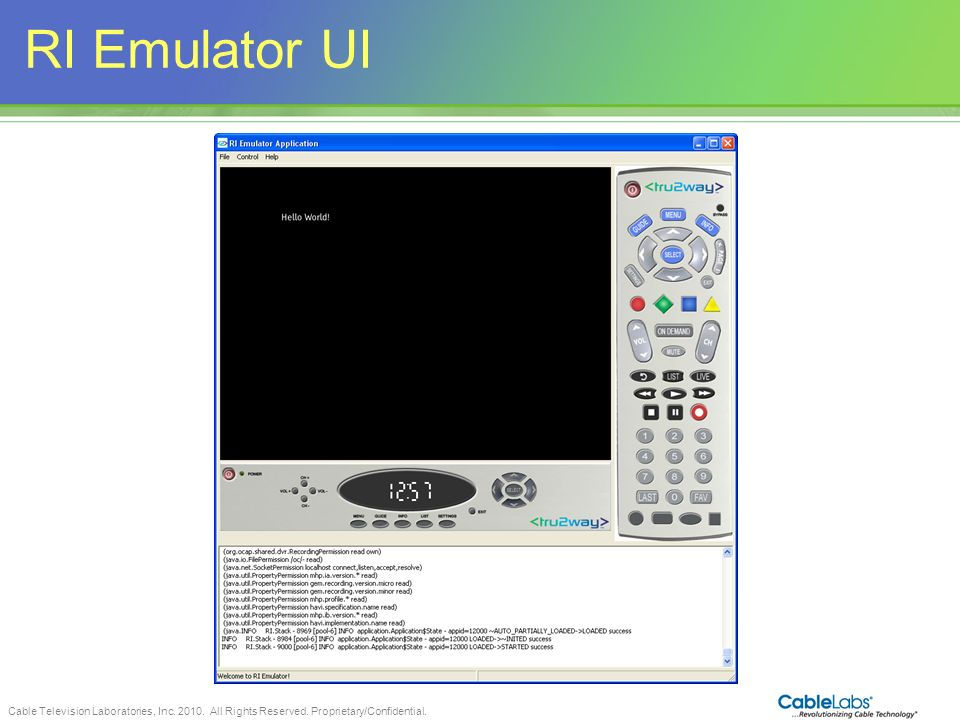 RI Emulator UI 85