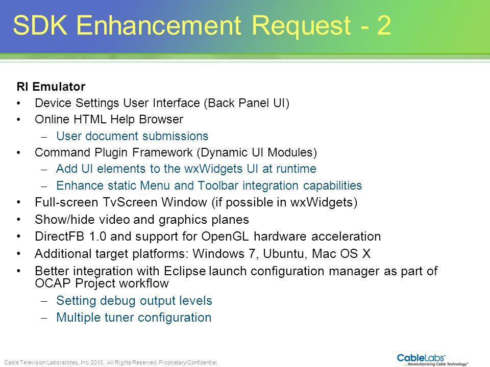 SDK Enhancement Request - 2