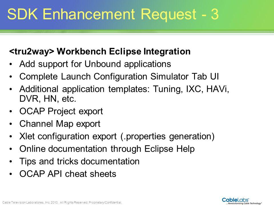 SDK Enhancement Request - 3
