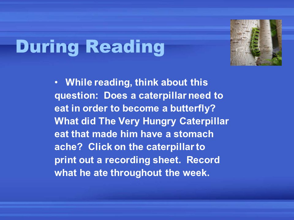 During Reading While reading, think about this
